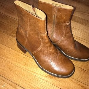 Rockport Zip Leather Booties